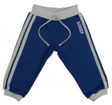 Pantaloni trening DAN albastru, cu dungi laterale gri