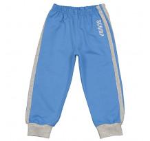 Pantaloni trening cu elastic in talie, albastru