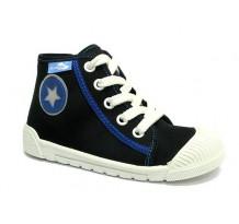 Pantofi tenisi baieti, din material textil, negru, Star