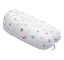 Perna Scamp 3 in 1 pentru gravide, alaptat, bebelusi, 160 cm, Blue Sky Light Blue