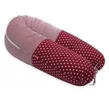 Perna Scamp 3 in 1 pentru gravide, alaptat, bebelusi, 160 cm, Boston Red Pink Star