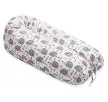 Perna Scamp 3 in 1 pentru gravide, alaptat, bebelusi, 150 cm, Hedgehog Grey