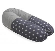 Perna Scamp 3 in 1 pentru gravide, alaptat, bebelusi, 150 cm, Nevada Grey White Big Star