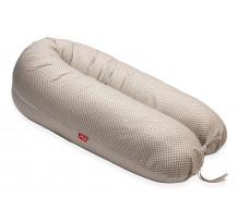 Perna Scamp 3 in 1 pentru gravide, alaptat, bebelusi, 150 cm, White Coffee Dots
