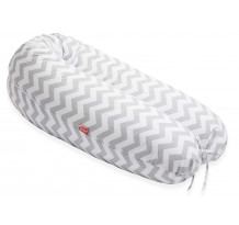 Perna Scamp 3 in 1 pentru gravide, alaptat, bebelusi, 160 cm, Zigzag Grey White