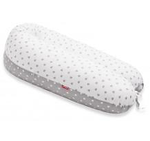 Perna Scamp 3 in 1 pentru gravide, alaptat, bebelusi, 150 cm, Little Heart WhiteGray