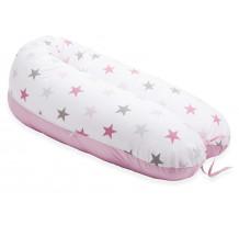 Perna Scamp 3 in 1 pentru gravide, alaptat, bebelusi, 160 cm, Rose Grey Sky