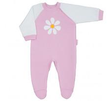 Pijama cu maneca lunga, cu botosei, cu motiv floare