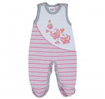 Pijama bebelusi fara maneci, cu motiv fluturasi