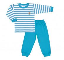 Pijama copii, albastru cu dungi