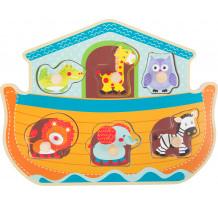 Puzzle lemn educativ cu maner, Arca lui Noe