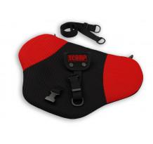 Deviator centura de siguranta Scamp pentru gravide, negru-rosu