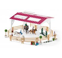 Scoala de calarie cu calareti si cai Schleich 42389