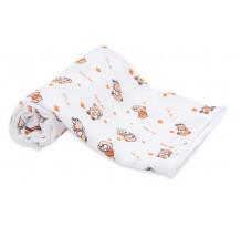 Set scutece din material textil, cu ursuleti, 70x70 cm, 3 buc
