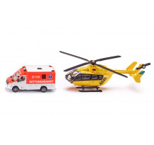 Set Ambulanta si Elicopter, Siku 1850, scara 1:87