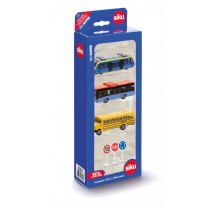 Set cadou, tren, busuri si semne de circulatie, Siku 6303