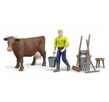 Set figurina fermier cu accesorii, Bruder