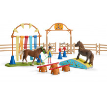 Set figurine Schleich 42481, antrenament de agilitate