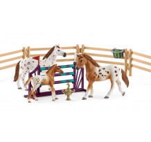 Set Schleich 42433, Set training turneu si cal Appaloosa
