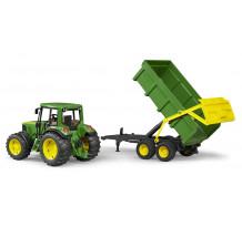 Tractor Johne Deere 6920 cu remorca, Bruder