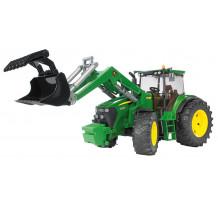 Tractor Bruder 03051, John Deere 7930 cu incarcator