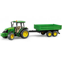 Tractor John Deere 5115M cu remorca, Bruder