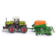 Tractor Claas 5000 Xerion cu semanatoare Amazone, Siku 1:87