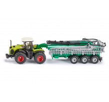 Tractor Claas Xerion 5000 cu cisterna, Siku 1827, 1:87