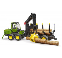 Tractor forestier John Deere 1210E cu graifer, Bruder 02133