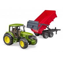 Tractor John Deere 6920 cu remorca basculabila, Bruder 02057