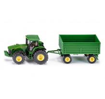 Tractor John Deere 8430 cu remorca, Siku