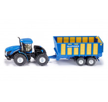 Tractor New Holland cu remorca Silopower, Siku
