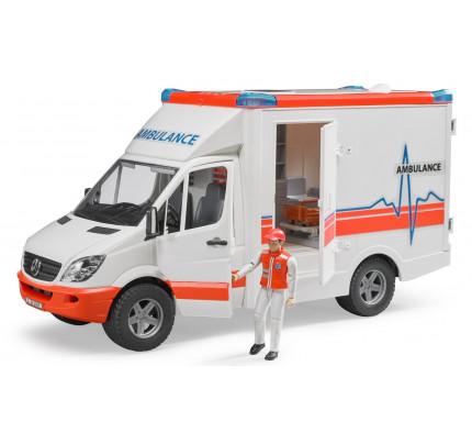 Ambulanta Mercedes Benz Sprinter cu paramedic, Bruder