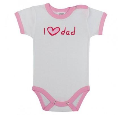 Body cu maneca scurta, I love dad, Basic