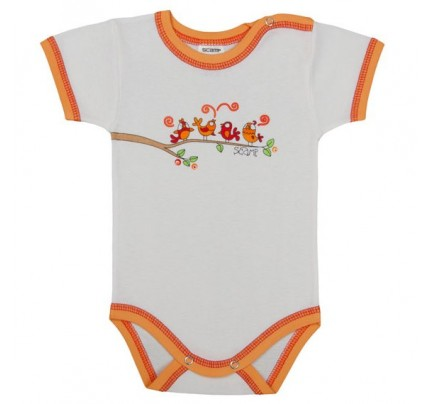 Body bebe cu maneca scurta, primavara /Basic