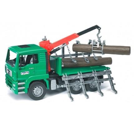 Camion forestier Bruder MAN cu macara de incarcare