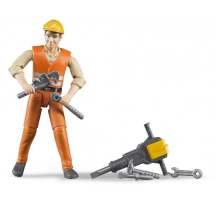 Figurina constructor cu picamer, Bruder bworld