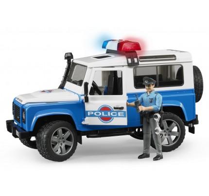 Masina de Politie Bruder Land Rover Defender