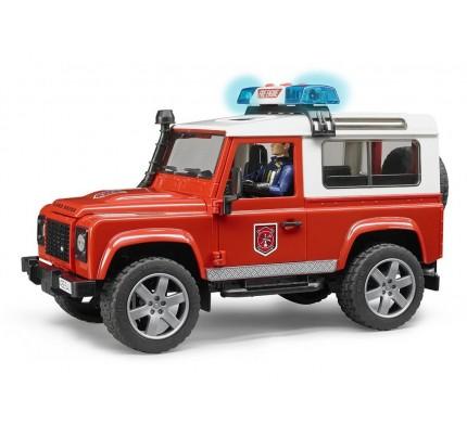 Masina de pompieri Land Rover Defender Bruder