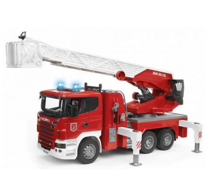 Masina de pompieri Scania cu pompa de apa, Bruder