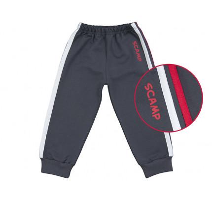 Pantaloni trening cu elastic in talie negru grafit