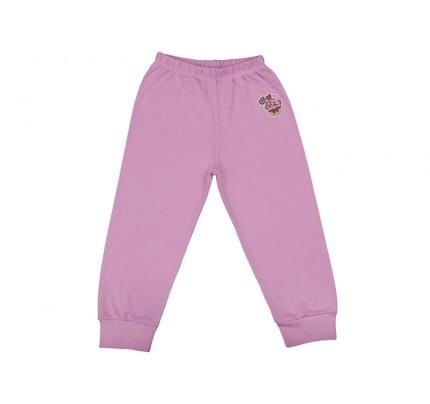 Pantalonasi cu elastic in talie roz iaurt