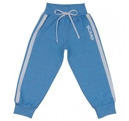 Pantaloni trening cu banda lata in talie, albastru deschis