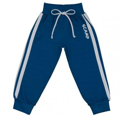 Pantaloni trening cu banda lata in talie, albastru inchis