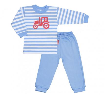 Pijama copii, albastru cu motiv tractor