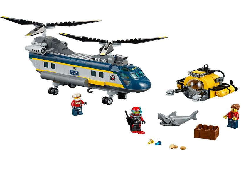 LEGO City, Elicopter pentru expeditii marine 60093