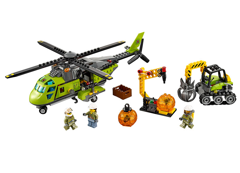 LEGO City, Elicopter de aprovizionare la vulcan 60123