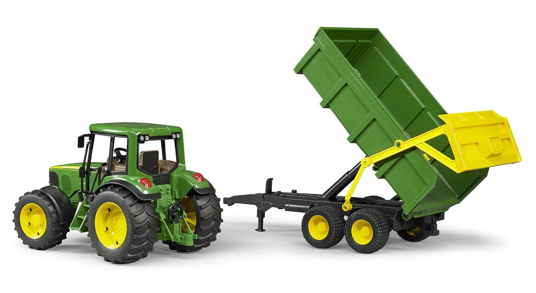 Tractor Bruder Johne Deere 6920 cu remorca