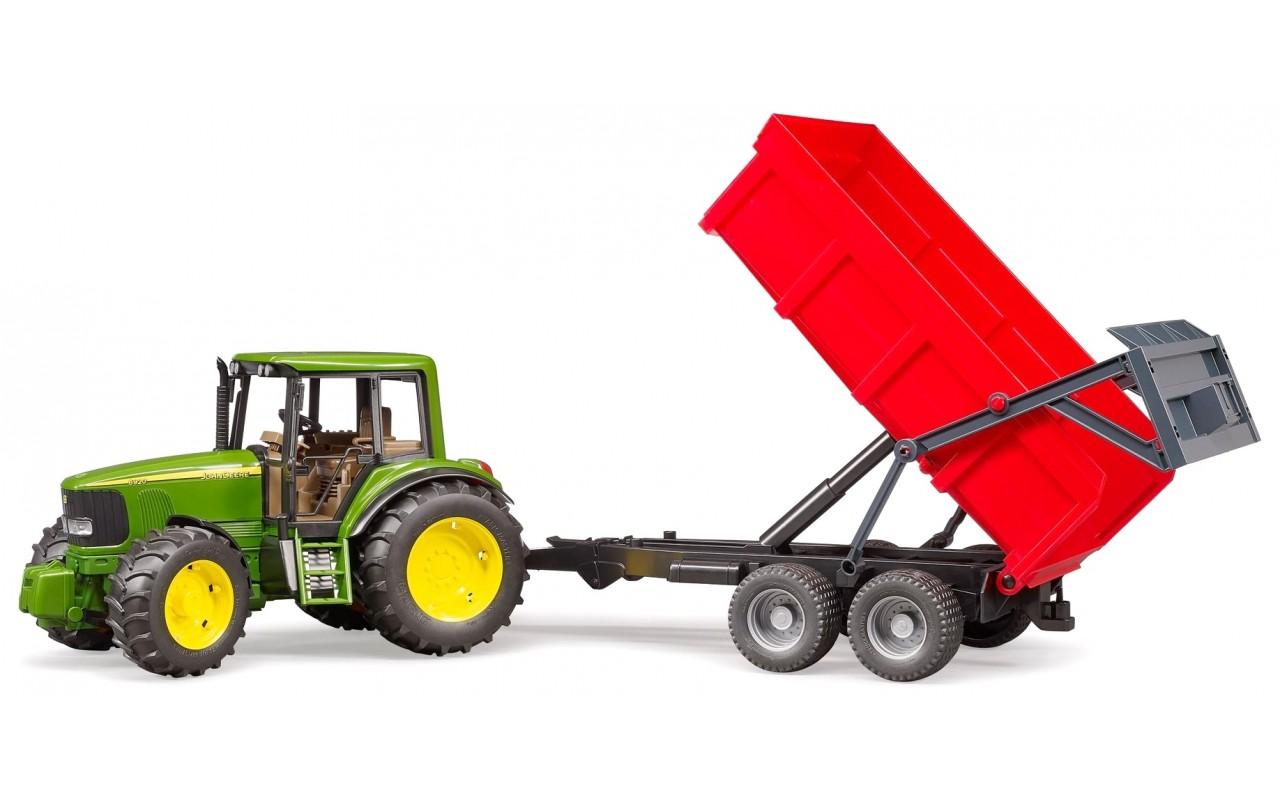 Tractor John Deere 6920 cu remorca basculabila, Bruder