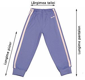 Tabelul de mărimi pentru pantalonaşi cu elastic în talie
